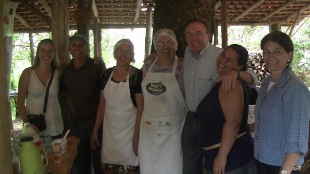 Visita com os produtores orgânicos de Foz